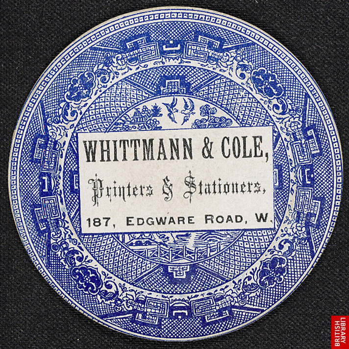 Advert for Whittmann & Cole, Printers & Stationers